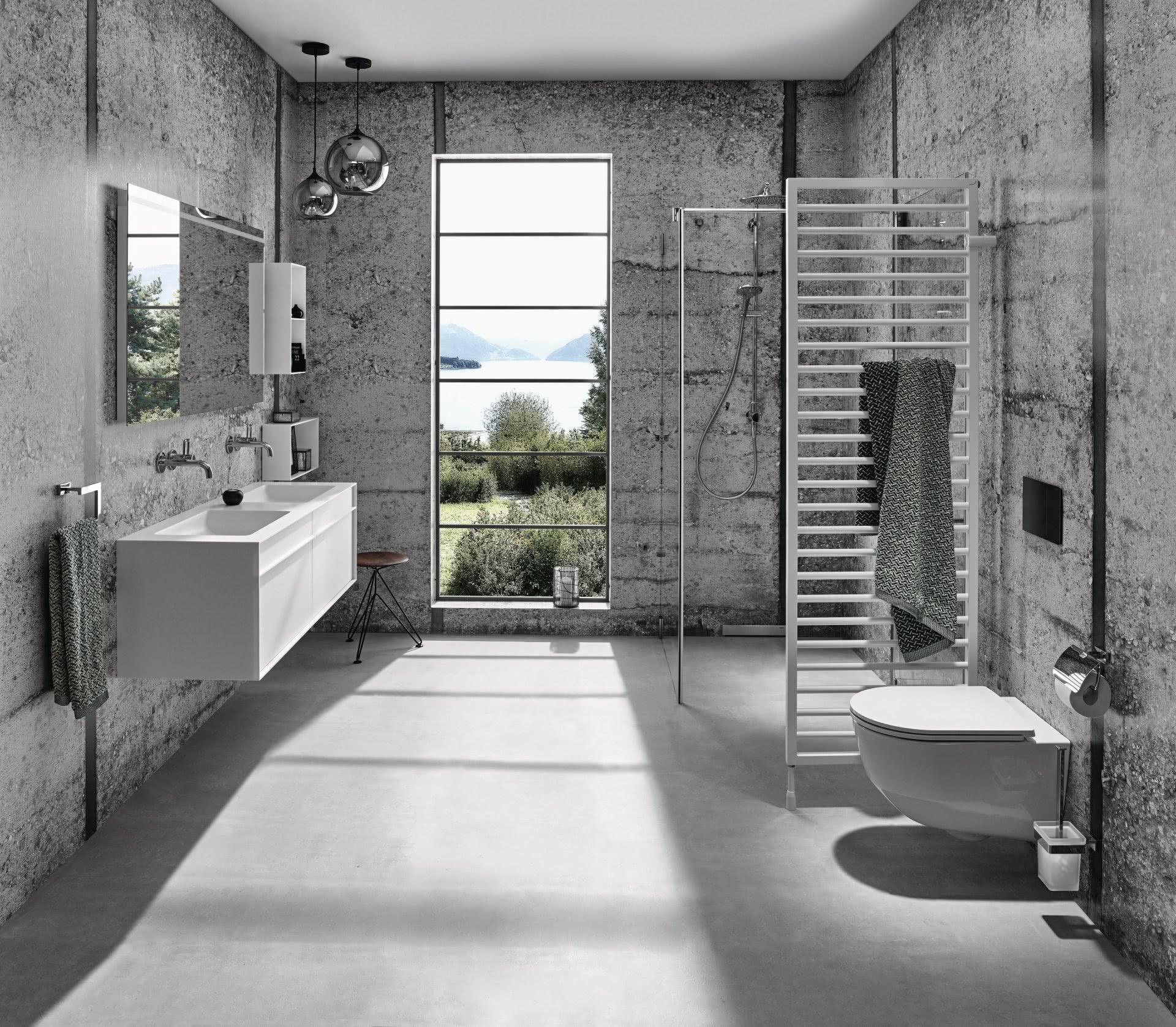 Badezimmer Badewelten Exzentrisch Grau