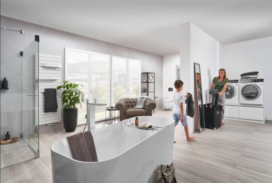 Loftbad mit Wohncharakter Inspiration BadeWelten