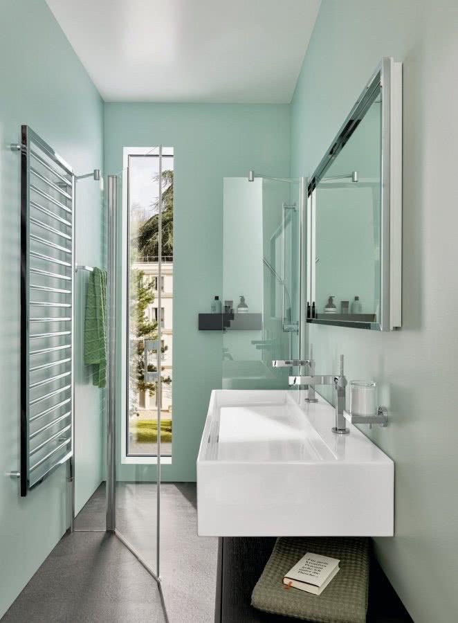 Kleine Bäder ganz gross Dusche Waschtisch Highlights BadeWelten